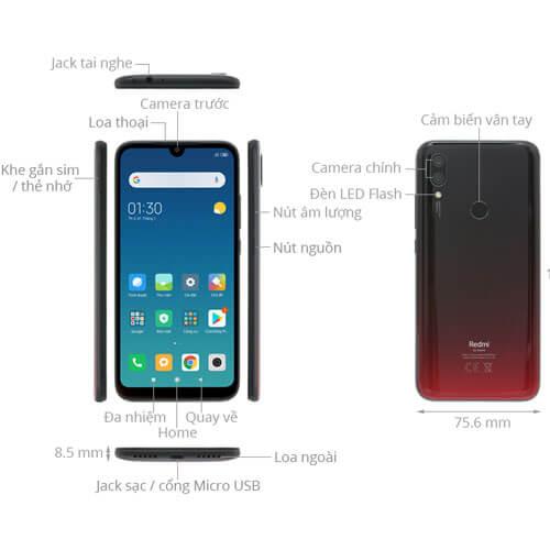 Thiết kế tổng quan Xiaomi Redmi 7