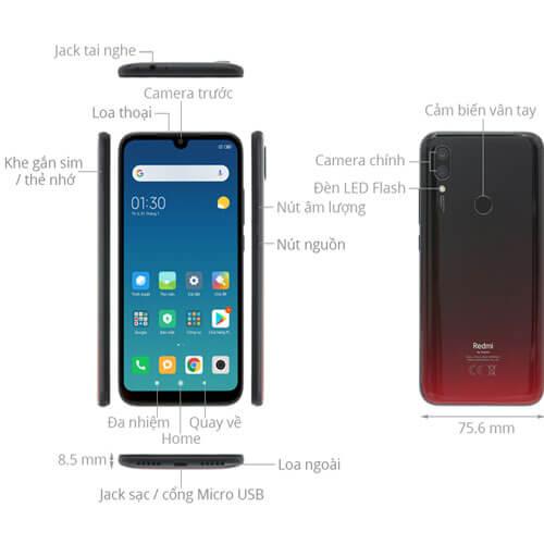 Thiết kế tổng quan Xiaomi Redmi Note 7