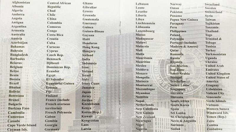 Các quốc gia chấp nhận bằng IAA