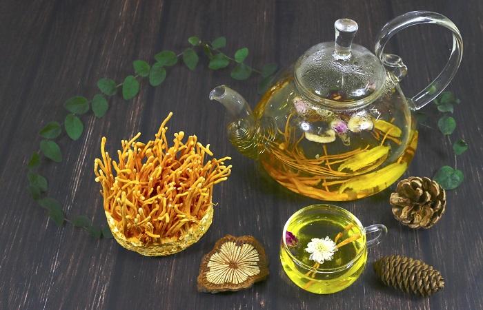 Đông trung hạ thảo dùng pha trà để uống